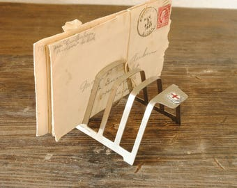 London mail sorter / toast rack - stainless steel