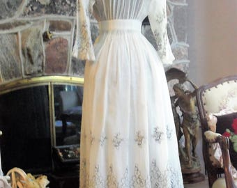 Edwardian Day Dress - White