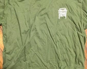X-Large adult FJ60 Series blueprint Land Cruiser LandCruiser army green Tshirt