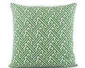 Trellis Kelly Green Pillow Cover, 18x18, 20x20, 22x22, 24x24, Eurosham, Square or Lumbar Pillow, Throw Pillow, Accent Pillow, Toss Pillow