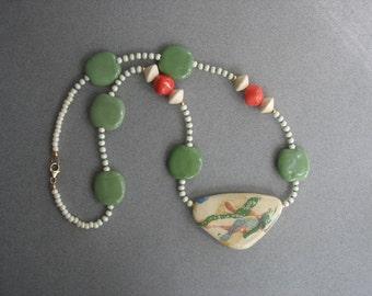 Bright Kazuri Bead Necklace