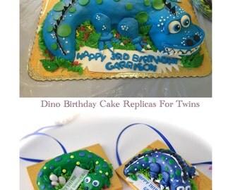 Custom Celebration Cake Replica Ornament Simple First Anniversary Birthday Memory Gift!
