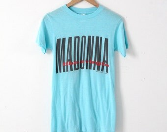 Madonna t-shirt, 1980s concert tee, vintage Like A Virgin original tshirt