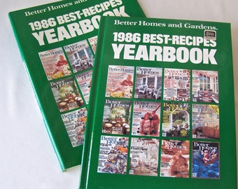 Vintage Cookbook Better Homes and Gardens 1986 Best Recipes Yearbook Includes Dust Jacket