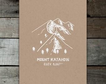 Mount Katahdin Kraft 11x14 Print