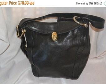 ON SALE Marino Orlandi Bag~Marino Orlandi  Shoulder Bag~ Black Leather Bag Italian Made