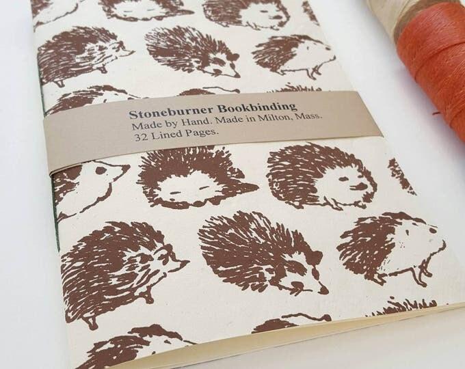 Hedgehogs Notebook - Hedgehogs Journal - Pocket Notebook - Jotter - Diary