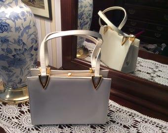Coblentz White Leather  Handbag