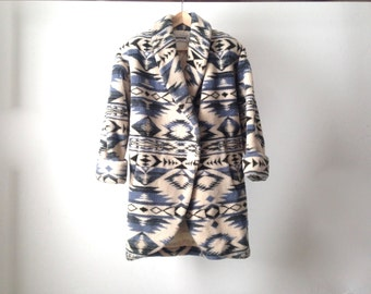 90s SLOUCHY ikat style parka SOUTHWEST size small thick winter jacket