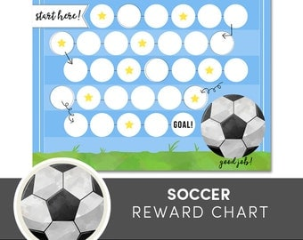 Kids Reward Chart - Soccer Printable - Kids Chore Chart - Routine Chart - Potty Training