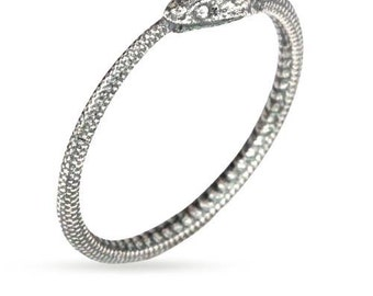 Ouroboros Snake Ring Sterling Silver Size 6  - 1 pc  Wholesale Price (11262)/1