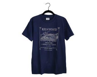 Vintage Jack London Kenwood Vineyard Sonoma Valley Wolf Face 100% Cotton Crewneck Tour T-Shirt, Made in USA