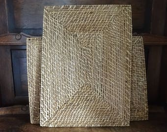 Vintage French Large Woven Table Placemats Place Mats Trivet Table Protectors SOLD INDIVIDUALLY circa 1970-80's / English Shop