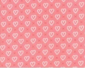 Sugar Pie Pink Hearts 5043 19 by Vanessa Goertzen of Lella Boutique for Moda