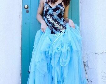 Fairy Dress - Gothic Gown - Steampunk Wedding Dress - Whimsical Dress