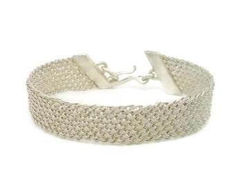 Woven Silver Bracelet - Braided