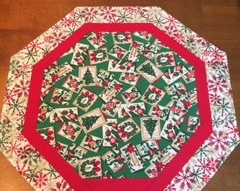 Clearance sale! 50% off all in stock items! Quilted Table Topper, Christmas