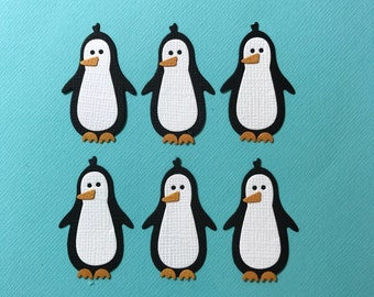 6 Penguin Die Cut Embellishments for Scrapbooking Cards and Paper Crafts Penguins Anartic Cute Frozen Happy Feet