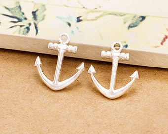2 of 925 Sterling Silver Anchor Charms 12x14mm.Polish Finished :th2038