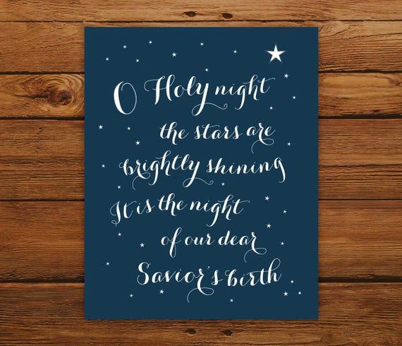 O Holy Night 8x10 Christmas Print Christmas Song in