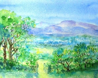 Summer in Wicklow Ireland - SALE -Original Watercolour painting