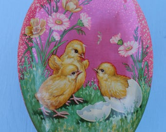 Vintage Easter Chick Tin, Candy, England