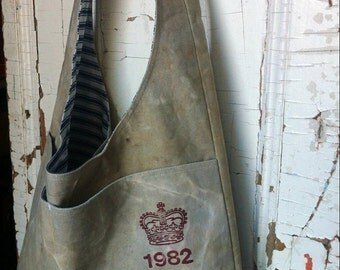 HOLIDAY BLOWOUT 1982 - reconstructed vintage canada post sling bag