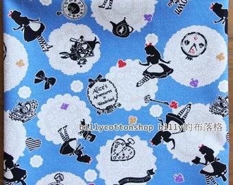 m231_55 - fairy tales fabrics -  (Alice in Wonderland) - cotton linen - Half Yard