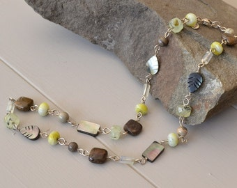 Gemstone Necklace, Earthy Jewelry, Earthy Necklace, Natural Stone Necklace