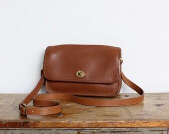 Vintage Coach Bag // Crossbody Bag British Tan NYC EUC // Coach Purse Handbag