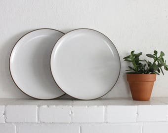 Vintage Heath Ceramics Plates Opaque White // Dinner Plate // Edith Heath Pottery