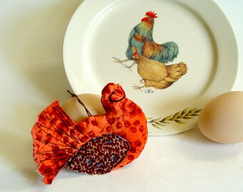 Little Red Hen farmhouse decor ornament for hen lovers