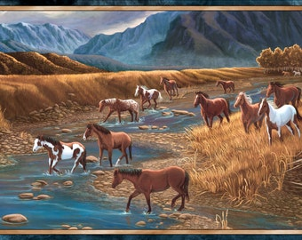 Quilting Treasures. Sundance. Mountain Horse Panel - 2/3 yard Quilting Panel