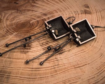 Small cubes earrings