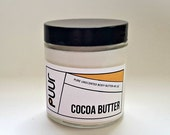 BLACK FRIDAY SALE Unscented Body Butter Pure Raw Cocoa Butter Vegan Body Cream Moisturizing Face and Body Lotion 4oz Mineral Oil Free Fragra