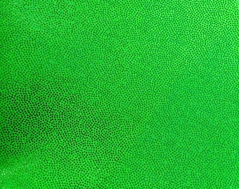 4-Way Stretch Holographic Mystique Spandex Fabric - Lime