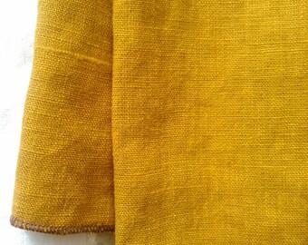 2 Tea Towels- Blanks, flax, 100 percent linen, Ochre Linen