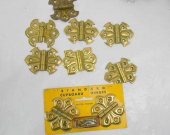 Vintage brass butterfly cupboard hinges standard cupboard hinges brass butterfly new old stock cabinet hinges brass hinges butterfly hinges