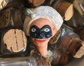This Small Antique Masked Pierrott Doll Head Will Turn Heads