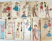 Childrens Sewing Pattern Lot 1940s-60s - 11 patterns