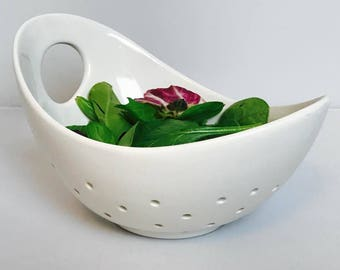 Hand-Held Strainer | Berry Bowl | Strainer | Ceramic Colander | Handmade Ceramics from my Charleston, SC Studio