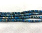 Making a 6.5 inches / 16.5 cm bracelet Sea Sediment Jasper Beads 6mm Heishi 4561