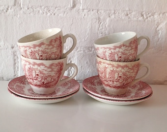Antique Coffee or Tea set - Tea Service - coffee cups and saucers