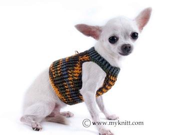 Small Dog Harness Vest Chihuahua, Small Dog Walking Harness, Walking Vest Chihuahua, Chihuahua Clothes, DH3 Myknitt