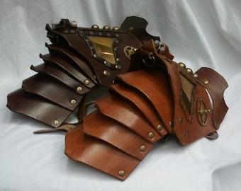 Fancy Leather Pauldron/Shoulder Armor