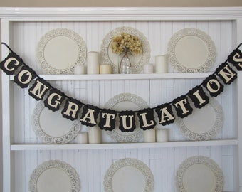 CONGRATULATIONS Banner, Wedding Sign, Anniversary Sign, Graduation Sign, Retirement,