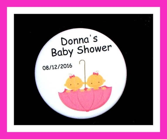 Baby Shower Twin Girl,Gender Reveal,Personalized Button,Favor Tag,Its a girl,Party Favor,Birthday Party Favors,Personalized Favors,Set of 10