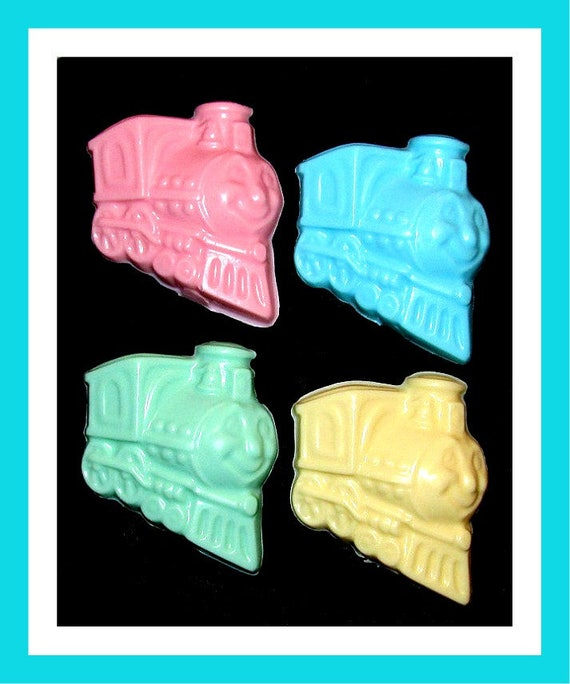 24 Train Soap Favors,Birthday Party Favors,Personalized Button Pin,Girl Birthday Favors,Boy Birthday Favors,Kid Soap/Fun