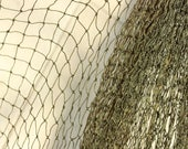 Small Eye Moss Green Fish Net 2.75x5.5 Yards =2.5 x 5 Meters of Nylon Beach Decor-Beach Wedding-Beach Partie-Fish Net Curtain-Fishing Net