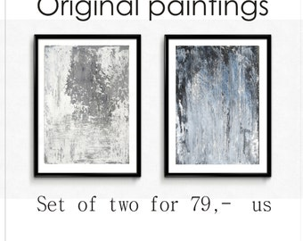 wall art  set of 2  Painting nice   abstract  Painting textur original painting  from Jolina Anthony